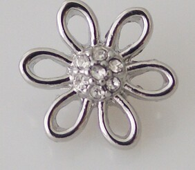 Small Top - Flower with Centre Bling