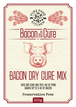 8. Bacon Dry Cure Mix - 500g Pouch