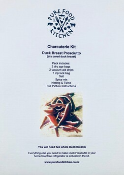 K4. Charcuterie Kit - Duck Prosciutto (Dry Cured Duck Breast)