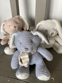 A Knitted Rabbit - 3 colours