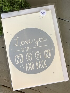 I Love you to the Moon - Grey
