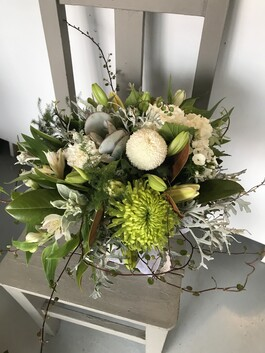 Eco Vase in Limes and Whites