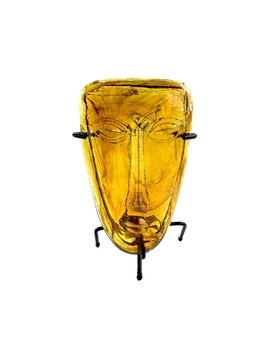 Mexican Glass Mask - Amber