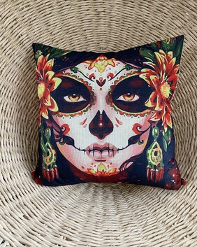 Cushion - Halloween / Day of the Dead inspired face