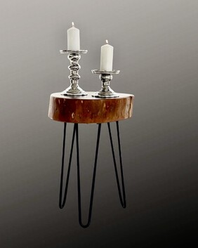 Pewter Candle Holder Duo