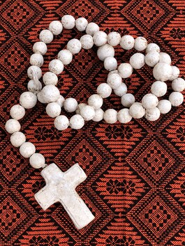Clay Rosary - Off-White