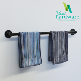 Industrial Pipe Towel Rail - Six Sizes