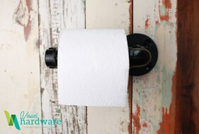 Industrial Pipe Toilet Roll Holder