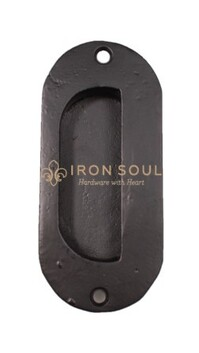 Iron Soul Oval Recess Handle 130mm