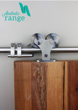 Top Mounted Double Roller Stainless Sliding Door