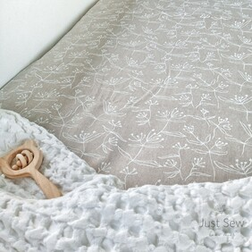 Wishes Linen Fitted Sheet