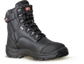 Wiremu Zip Black Wide FIT Over Ancle Safety Boot
