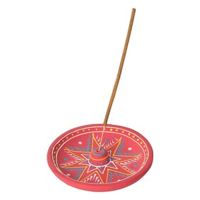Clay Incense Holder - Happiness