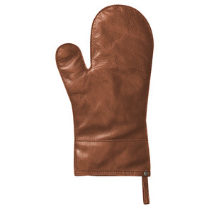 Brown Leather Oven Mitt