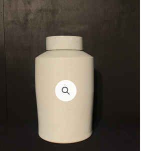 White Jar With Lid - Large