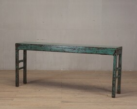 Turquoise Lacquer Console