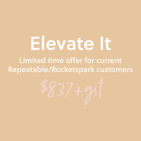 Website Package | Elevate It | Limited Time Offer for existing Repeatable/Rocketspark clients
