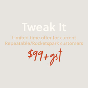 Website Package | Tweak It | Limited Time Offer for existing Repeatable/Rocketspark clients