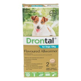 Drontal Chew Worm Treatment - Dog 2 pack