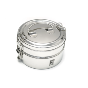 Meals in Steel - Double Layer Tiffin Lunchbox