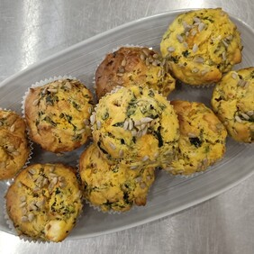 Muffins - Pumpkin, sundried tomato, spinach and feta 10 pack