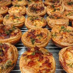 Pastry Savoury - Bacon and egg pies 10 pack
