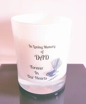 Fantail Memorial Candle