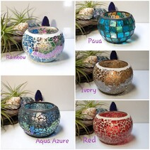 Crackle Glass Candles