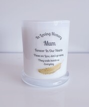 Gold Feather Memorial Candle