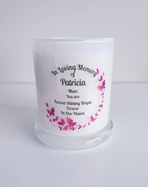 Pink Butterfly Swarm Candle