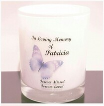 Butterfly Memorial Candle