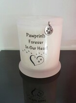 Memorial Candle/ Pawprint Design (For lost pets)