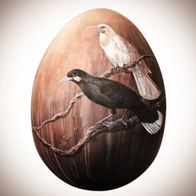 Huia - Painted Egg Sculpture