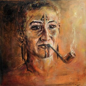 Portrait with Nanny's Pipe