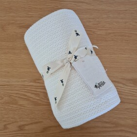 Ecosprout Organic Cotton Cellular Blanket Natural