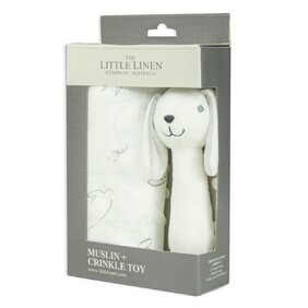 Little Linen Bunny Muslim Wrap And Toy