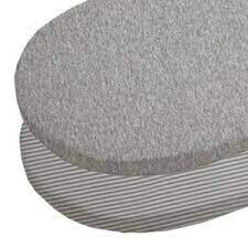 Living Textiles Cotton Jersey Round Cot Fitted Sheet 2PK Gray