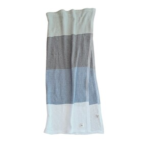 Ecosprout Organic Cotton Cellular Blanket Olive Stripe