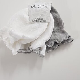 Mixed 3 Pack Playette Newborn Knitted Mittens
