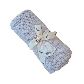 Ecosprout Organic Cotton Cellular Blanket Dove Grey