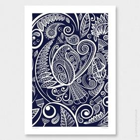 Huia's Tapestry Wall Art Print by Anna Mollekin