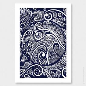 Kiwi's Tapestry Wall Art Print by Anna Mollekin