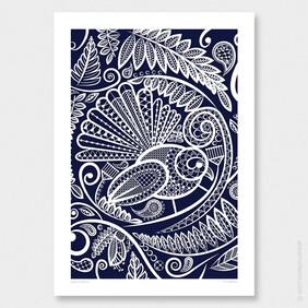 Fantail's Tapestry Wall Art Print by Anna Mollekin