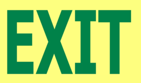 300 x 200 EXIT Glow in the Dark PVC - 24 metre viewing Sign