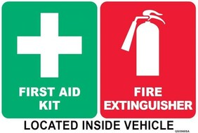 Vehicle Stickers - First Aid and Fire Extinguisher Combo