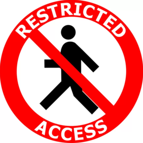 400mm dia Restricted Access FG184 Floor Graphic Sign