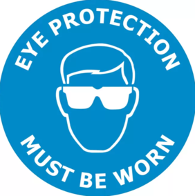 400mm dia Eye Protection Must Be Worn FG175 Floor Graphic Sign