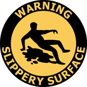 400mm dia Slippery Surface FG164 Floor Graphic Sign