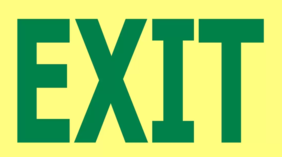 240 x 150 EXIT Glow in the Dark PVC - 16 metre viewing Sign