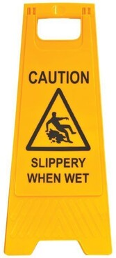 Caution - Slippery When Wet A-Frame Sign